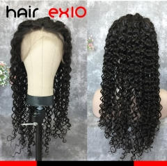 Silk Top Lace Front Wig  150% Density Virgin Brazilian hair Virgin Human Hair  Water Wave Full Lace Human Hair Wig With Baby Hair Glueless Lace Front