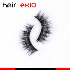 3D619 3D Mink Eyelashes Real Mink Handmade Crossing Lashes Individual Strip Thick Lash Fake Eyelashes