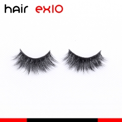 3D701 3D Mink Eyelashes Real Mink Handmade Crossing Lashes Individual Strip Thick Lash Fake Eyelashes