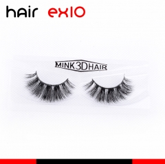 3D407 3D Mink Eyelashes Real Mink Handmade Crossing Lashes Individual Strip Thick Lash Fake Eyelashes