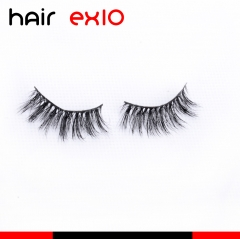 3D617 3D Mink Eyelashes Real Mink Handmade Crossing Lashes Individual Strip Thick Lash Fake Eyelashes
