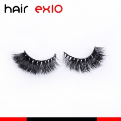 3DD01 3D Mink Eyelashes Real Mink Handmade Crossing Lashes Individual Strip Thick Lash Fake Eyelashes