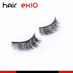 3D411 3D Mink Eyelashes Real Mink Handmade Crossing Lashes Individual Strip Thick Lash Fake Eyelashes