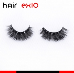 3DD02 3D Mink Eyelashes Real Mink Handmade Crossing Lashes Individual Strip Thick Lash Fake Eyelashes