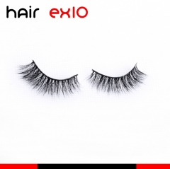 3D517 3D Mink Eyelashes Real Mink Handmade Crossing Lashes Individual Strip Thick Lash Fake Eyelashes