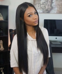 Lace Front Wig Hair Density 180% Virgin Brazilian hair Straight Hair Natural Color Unprocessed Virgin Human Hair