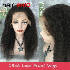 13x6 Lace Front Wig Density 150% Brazilian Virgin hair Deep Curly Hair Unprocessed Virgin 13x6 Lace Front wig Human Hair Wig Virgin Hair For Black Wom