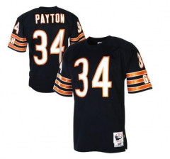 JOE Walter Payton Chicago Bears Mitchell & Ness 1985 Authentic Throwback Jersey – Navy Blue/white