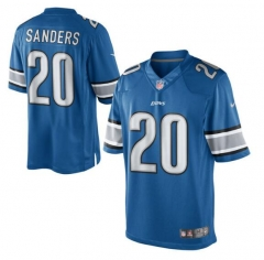 JOE Barry Sanders Detroit Lions  Retired Player Limited Jersey – Light Blue/white