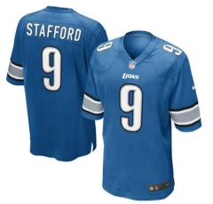 JOE Matthew Stafford Detroit Lions  Game Jersey - Light Blue/white