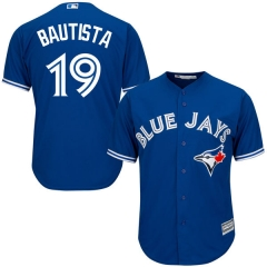 [JOE] Men's Toronto Blue Jays Jose Bautista #19 Majestic Royal Alternate Cool Base Player Jersey
