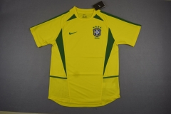 [JOE] Adult Retro 2002 Brazil Home Yellow Jersey