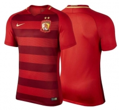 [JOE] Adult Guangzhou Evergrande Taobao Football Club red fans version jerseys 2017[Size to 4XL]