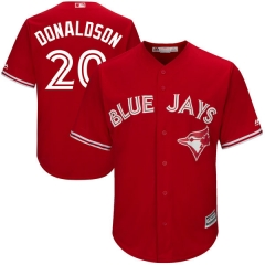 [JOE] Men's Toronto Blue Jays DONALDSON #20 Majestic Royal Alternate Cool Base Player Jersey
