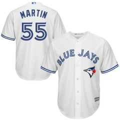 [JOE] Men's Toronto Blue Jays MARTIN #55 Majestic Royal Alternate Cool Base Player Jersey