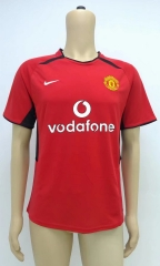 [JOE] Men's Retro Manchester United home red jersey 2002
