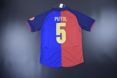 [JOE] Retro Barcelona #5 PUYOL  home blue jersey 1899/1999