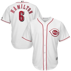 [JOE] #6 Billy  Cincinnati Reds Majestic Youth Cool Base Player Jersey - White