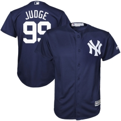 [JOE] #99 Aaron Judge New York Yankees Majestic Youth Cool Base Player Jersey - Navy