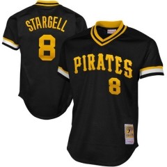 [JOE] #8 Willie Stargell Pittsburgh Pirates Mitchell & Ness 1982 Authentic Cooperstown Collection Mesh Batting Practice Jersey - Black