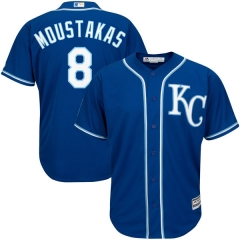 [JOE] #8 Mike Moustakas Kansas City Royals Majestic Alternate Official Cool Base Player Replica Jersey - Royal