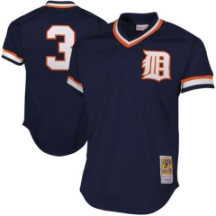 [JOE] #3Alan Trammell Detroit Tigers Mitchell & Ness 1984 Authentic Cooperstown Collection Mesh Batting Practice Jersey - Navy