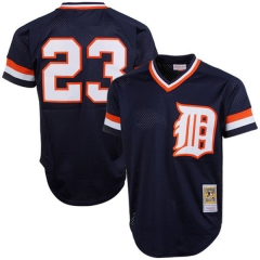 [JOE] #23Kirk  Detroit Tigers Mitchell & Ness 1984 Authentic Cooperstown Collection Mesh Batting Practice Jersey - Navy