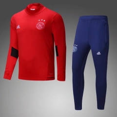 [JOE] AFC Ajax Red High Collar Pre-Match Training Suit 17/18 [ size S - size XXXL]