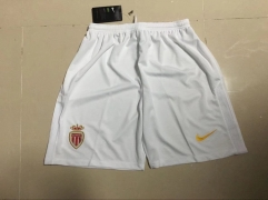 [JOE] Adult Monaco Home White Soccer Shorts Pants 2017/18
