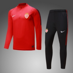 [JOE] AS Monaco FC Red High Collar Pre-Match Training Suit 17/18 [ size S - size XXXL]