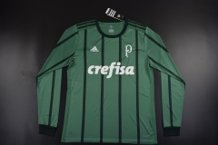 [JOE] Adult Sociedade Esportiva Palmeiras Home Green Long Sleeve Fans Version 2017/18