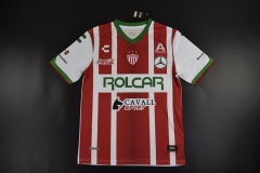 [JOE] Adult Club Necaxa Home Red And White Soccer Jersey 2017/18