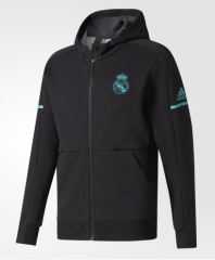Adult Real Madrid Black Z.N.E. Hoodie 2017/18