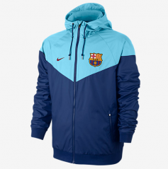 Adult FC Barcelona Blue Windbreaker 2017/18