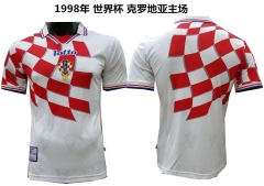[JOE] Adult FIFA Croatia Home Red And White Retro Jersey 1998