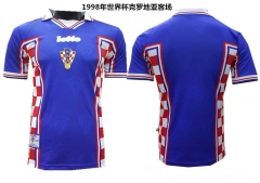 [JOE] Adult FIFA Croatia Away Black Retro Jersey 1998
