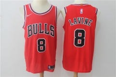 [JOE] Zach LaVine #8 Nike Chicago Bulls Icon Edition Swingman Jersey - Red/White