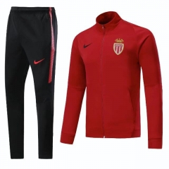 [JOE] Adult AS Monaco FC Red Top N98 Soccer Jacket Suit 2017/18