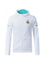 Adult Real Madrid White Z.N.E. Hoodie 2017/18 #LH