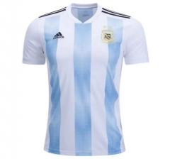 2018 World Cup Argentina Home White/Skye Blue Soccer Jersey Shirt