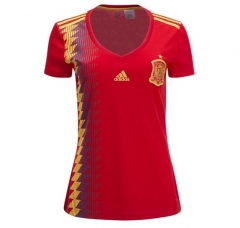 2018 Spain Women's Home Red Soccer Jersey Shirt