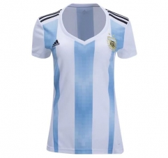2018 Argentina Women's Home White/Skye Blue Soccer Jersey Shirt