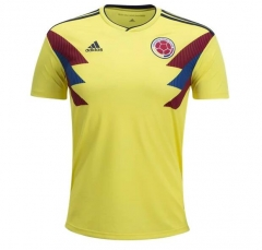2018 World Cup Colombia Home Yellow Soccer Jersey