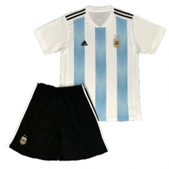 2018 World Cup Argentina Home White/Skye Blue Soccer Uniform