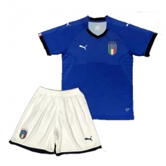 2018 Italy Home Blue Soccer Uniform