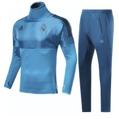 2018 Real Madrid UEFA Champion League High Collar Pre-Match Training Suit