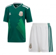 2018 Youth Mexico Home Green Soccer Kits