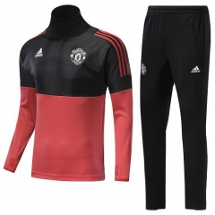 2018 Manchester United UEFA Champion League High Collar Pre-Match Training Suit