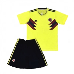 2018 World Cup Colombia Home Yellow Soccer Uniform