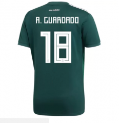 2018 Mexico #18 A. GUARDADO Home Green Soccer Jersey Shirts